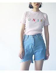 abordables -Mujer Casual Vaqueros Pantalones - Un Color