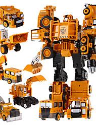 Недорогие -5 в 1 супер автомобили герой игрушки трансформации роботов действий робота пластиковые детские игрушки для мальчиков