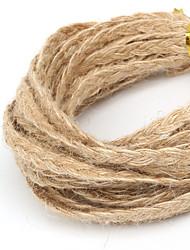 beadia 5mm environ tressé chanvre naturel jute cordon pour les bijoux bricolage artisanal décision (5mts)
