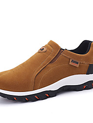 preiswerte -Herrn Schuhe Wildleder Frühling Herbst Komfort Loafers & Slip-Ons Walking für Normal Schwarz Grau Khaki