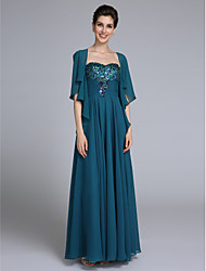 cheap -A-Line Sweetheart Neckline Ankle Length Chiffon Mother of the Bride Dress with Sequin / Ruched by LAN TING BRIDE® / Wrap Included