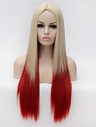 Damen Synthetische Perücken Kappenlos Lang Blond Capless Perücken Halloween Perücke Karnevalsperücke Kostüm Perücken