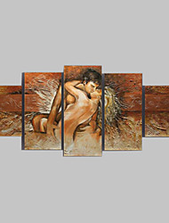 cheap -Oil Painting Hand Painted - Abstract Classic Traditional Five Panels