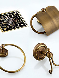 Bathroom Accessory Set Towel Ring Toilet Paper Holder Robe Hook Drain Towel Warmer Antique Brass 19 23 Towel Ring Toilet Paper Holder