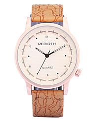 levne -Pánské Náramkové hodinky Módní hodinky Křemenný / PU Kapela Na běžné nošení Orange Hnědá Béžová
