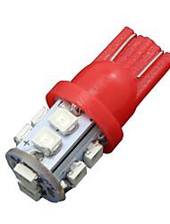 Недорогие -10x чистый красный T10 W5W клина сторона 10-SMD LED резервного копирования обратного света 2825 921 192 906