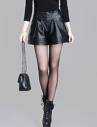 Women's Solid Black Shorts Pants,Sexy  Simple