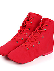 Women's Dance Shoes Canvas Canvas Jazz / Dance Boots Boots / Sneakers Low Heel Beginner / Customizable
