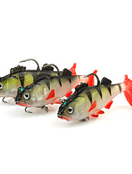 cheap -3 pcs Fishing Lures Soft Jerkbaits Shad Jig Head Soft Plastic Sea Fishing Spinning Jigging Fishing Freshwater Fishing General Fishing