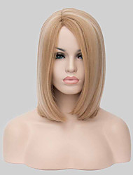 Europe and the United States Hot Sale Fashion Side Short Straight Synthetic Wigs