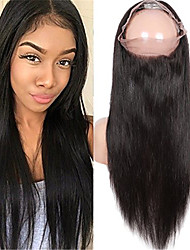 cheap -Indian Virgin Human Hair 360 Lace Band Frontal Closures Straight Ear To Ear 360 Lace Frontal Closures With Baby Hair