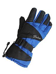 cheap -Ski Gloves Bike Gloves / Cycling Gloves Men's Keep Warm Waterproof Windproof Canvas Ski / Snowboard