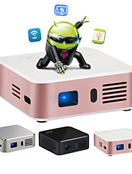 E05 LCD Home Theater Projector Android OS Wifi FWVGA (854x480) 120lumens LED Ratio 16/9 And 4/3