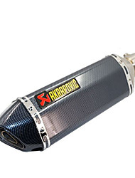cheap -Modified Muffler For Motorcycle Carbon Fiber Small Hexagon Sports Car Exhaust