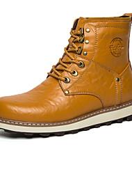Støvler-PUHerrer-Sort Brun Blå Kakifarvet-Udendørs Fritid-Flad hæl