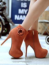Da donna-Stivaletti-Ufficio e lavoro Casual-Stivali Club Shoes Light Up Shoes-A stiletto-Finta pelle-Nero Marrone Giallo Rosso