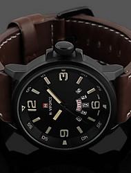 Муж. Модные часы Цифровой / Кожа Группа Повседневная Черный
