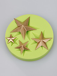 Star Shape Silicone Cake Mold Decoration Chocolate Fondant Cake Tools Ramdon Color