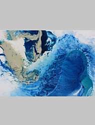 cheap -Abstract Sea Water Oil Painting Modern Style Stretcher Abstract Art Suitable For Modern house