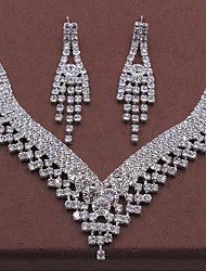 cheap -Women's Jewelry Set Earrings Necklace - Fashion Silver Necklace / Earrings For Wedding Party