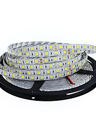 cheap -5M 5050 SMD LED Flexible Strip Light 300 LEDs 60LEDs/M IP65 Waterproof LED Rope Light Strips for Home Garden(DC12V)