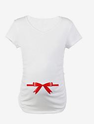 T-shirt Casual Romantico Estate,Tinta unita Rotonda Cotone Elastene Manica corta Sottile
