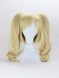 cheap -50cm code geass anya light blonde curly synthetic wigs for women double ponytail removable cosplay wigs costume wig Halloween