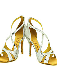 """Scarpe da ballo - Disponibile """"su misura"""" - Donna - Latinoamericano / Sala da ballo - Stiletto - Eco-pelle - Argento"""