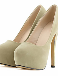 cheap -Women's Shoes Fabric Spring / Fall Heels Stiletto Heel / Platform Green / Blue / Almond / Wedding / Party & Evening / Dress / Party & Evening