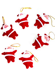 cheap -6PCS Little Red Santa Claus Christmas Decoration Christmas Gifts/Christmas Products/Christmas Tree