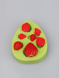 FDA&LFGB Strawberry Silicone Ice cube fimo caly candy chocolate Mold Color Random