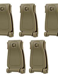 FURA Outdoor Nylon Belt Connection Buckles for Backpack Webbing - Black  / Khaki / Green(5 PCS)