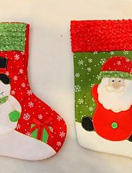 nouvelle année 2016 bas de Noël chaussettes Père Noël cadeaux de bonbons sac noël arbre décorations