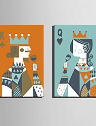 Недорогие -Люди Классика, 2 панели холст Вертикальная С картинкой Декор стены Украшение дома