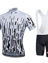 Fastcute Maglia con salopette corta da ciclismo Per uomo Per donna Unisex Manica corta Bicicletta Salopette Felpa Maglietta/Maglia
