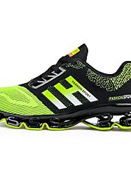 Черный Зеленый-Для мужчин-Для прогулок Для офиса Повседневный Для занятий спортом Для вечеринки / ужина-ТюльУдобная обувь-Спортивная обувь