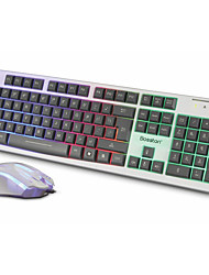 Bolton 838 Colorful Shining Keyboard Suit Desktop Notebook Internet Cafes Game Shine Keyboard Mouse Suit