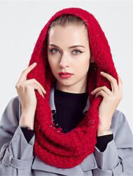 Для женщин Винтаж / На каждый день Для женщин Шарф Смесь шерсти