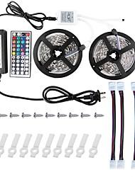 cheap -KWB 2*5M 5050 RGB Led Strip Lights Kit  with 44key IR Controller and 12V 6A Power Supply