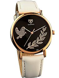 baratos -YAZOLE Mulheres Relógio de Moda / Relógio de Pulso Legal / / PU Banda Casual Preta / Branco / Vermelho