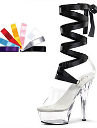 cheap -Women's Heels Summer / Fall Heels / Platform / Sandals PVC /  Wedding / Party & Evening / Casual Stiletto Heel Ribbon