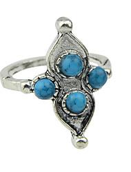 Vintage Silver Color Beads Big Finger Ring