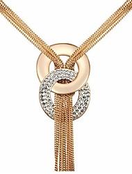 Da donna Collane con ciondolo Cristallo Placcato in oro Tasselli Gioielli Per Feste