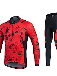 Miloto Cykeltrøje og tights Herre Unisex Langærmet Cykel Trøje Tights Træningsdragt Toppe Tøjsæt Underdele Hurtigtørrende