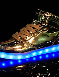 cheap -Men's Shoes Leatherette Spring Fall Comfort Light Up Shoes Sneakers Sequin Lace-up LED for Athletic Casual Party & Evening Silver Golden