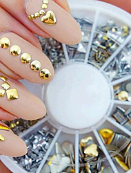 Silver Gold Mixed Nail Polish Manicure DIY Accessories Fossa Rivet Metal Patch
