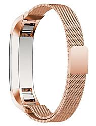 abordables -Noir Rouge Rose Doré Argenté Style Moderne Métallique Bracelet Milanais Pour Fitbit Regarder 10mm