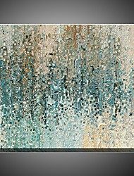 cheap -Handamde Textured Oil Paintings Light Blue Color Home Decor Modern Home Decor