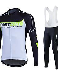 Fastcute Maglia da ciclismo Per uomo Unisex Manica lunga Bicicletta Tuta da ginnastica Giacche in pile / Fleece Maglietta/Maglia