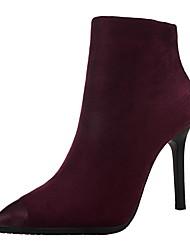 Da donna Scarpe Scamosciato Autunno Stivaletti alla caviglia Stivaletti Footing A stiletto Per Formale Nero Arancione Grigio Cachi